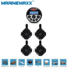 Waterproof Marine Bluetooth Radio Stereo SPA UTV ATV Sound System  MP3 USB Player + 6.5 inch marine tower Speakers