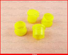 500 Pcs Plastic Covers Yellow Dust Cap f SMA RP-SMA Female RF Connector