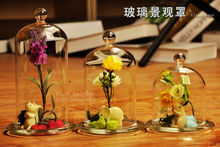 Glass cover flower vase(the flower ,stones and animal not included)   Flower Vase Wedding Decoration Wedding Invitation