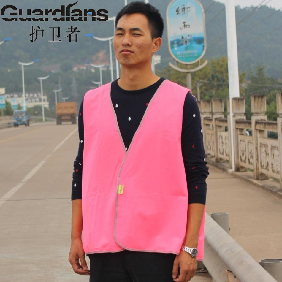 Fluorescent Pink Cheap Reflective Vests Safety Suit Reflectante Vest Riding Construction Vest-reflective<br><br>Aliexpress