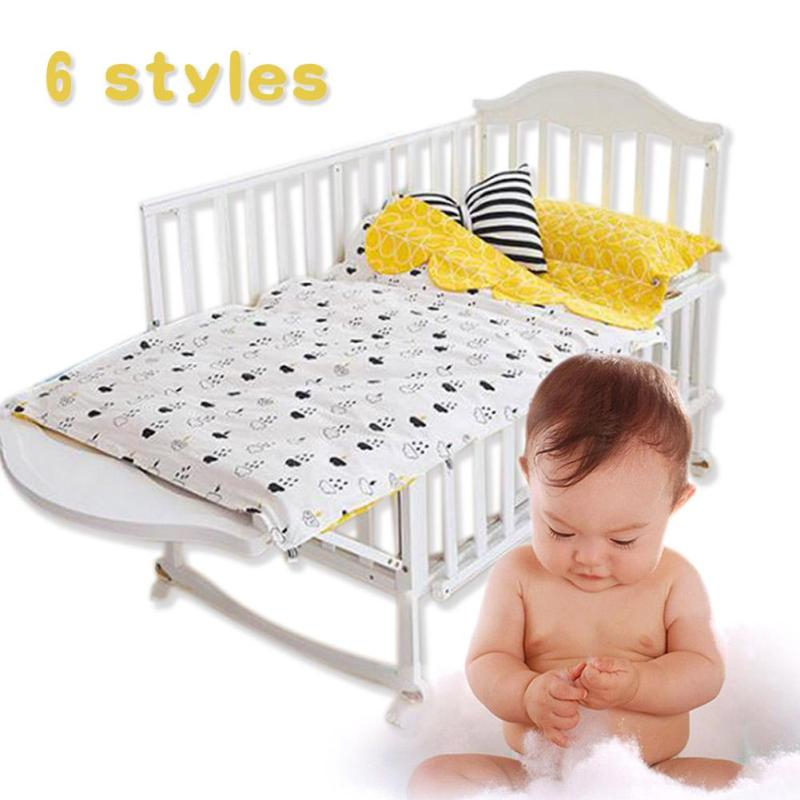 Cotton baby crib bedding set 3 in 1 newborn pillow case cushion duvet cover without filling Cartoon printed infant Bedding R4<br>