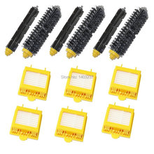 6 Hepa Filters 3 Bristle Brushes 3 Flexible Beater Brushes for iRobot Roomba 700 Series 760 770 780 790 Vacuum Cleaning Robotic(China)