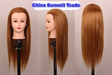 "20"" Mannequin Head With Blonde Hair Styling Head Wig Heads Hairdressers Hairdressing Manikin Training Wig With Holder"