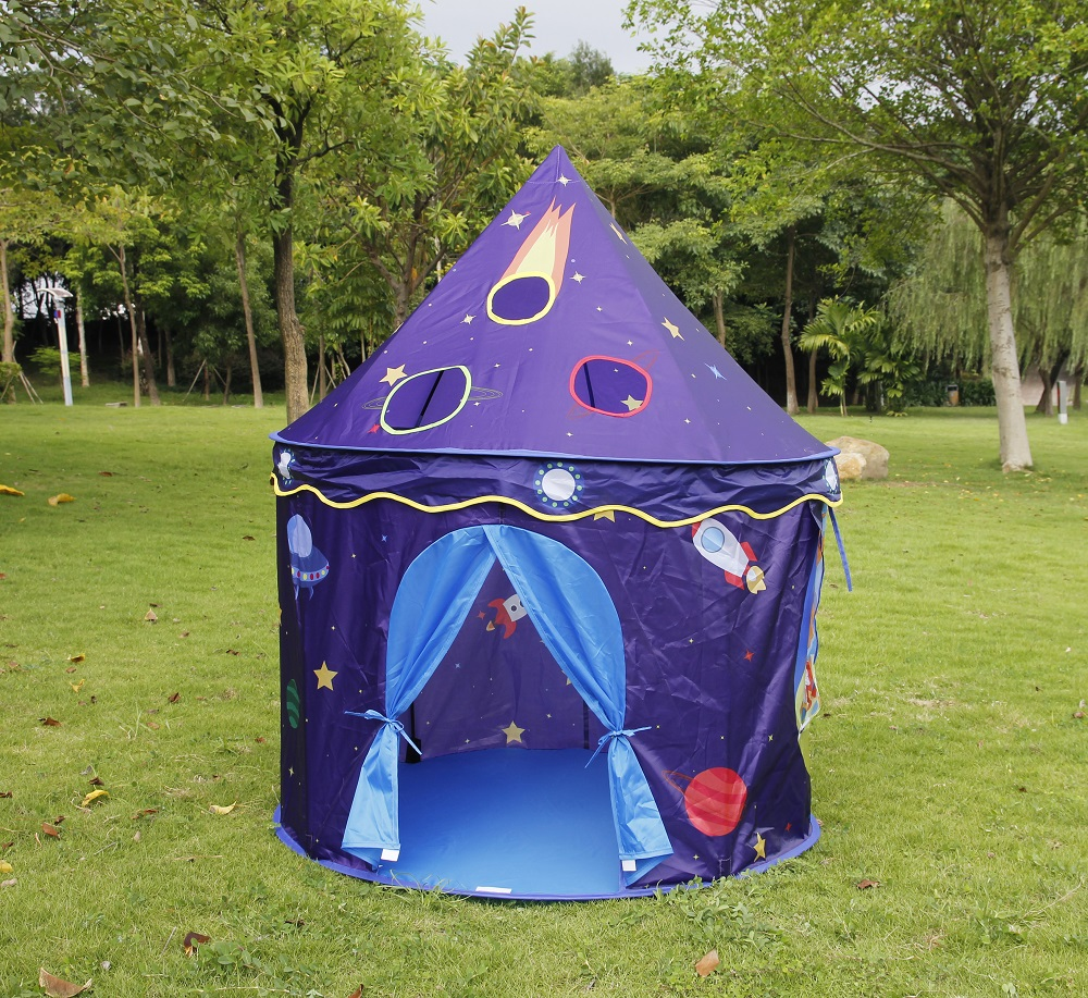 High Quality Blue Sky Star Prince Castle Kids Play Game Indoor Outdoor Children Tents <br><br>Aliexpress