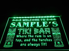 DZ014- Name Personalized Custom Tiki Bar Beer LED Neon Light Sign