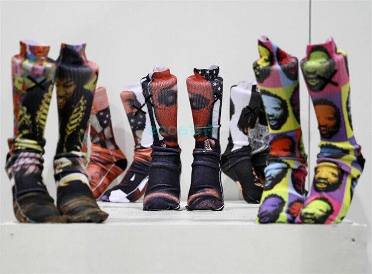 Men's 3d Print Socks (6)