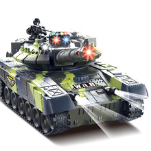 Hot sell remote control tank model 44cm or 33cm big size infrared parent-child battle rc tank electric Off-road toy for kids(China)