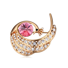 Xingzou Luxury Crystal from Swarovski Antique Peacock Brooch Women Jewelry Fashion Brooches Made with Swarovski Element