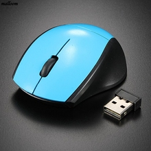 2.4GHz USB Receiver ultra thin Slim Mini Wireless Optical Mouse Mice for Laptop PC Optical Mini portable Gaming Mouse #714(China)