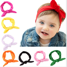 Fashion Children Headbands Cute Rabbit Ears Bow Hair Bands Girls Cloth Headband Bowknot Headwear Hair Accessories