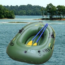 DEEP PASSION Portable Inflatable Boat Thicken PVC Rubber Vessel Fishing Boat 180x100cm Canoeing 2 Person with Paddles and Pump