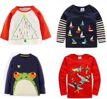 Retail BRAND 2017 New Cotton Long Sleeve Top T shirts For Baby Boys tshits Childrens tee Kids Chothing Full Sleeve Spring Autumn(China)