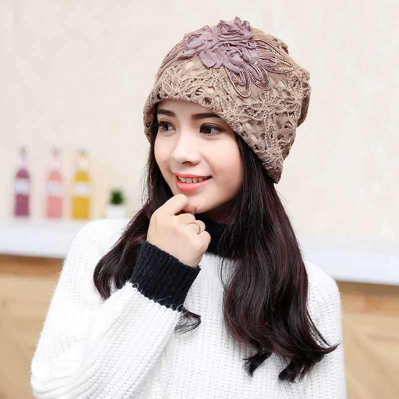 Light Thin Lace Hat Female Bonnet Femme Women Skullies Summer Hats Headgear For Women YJWG004Îäåæäà è àêñåññóàðû<br><br><br>Aliexpress