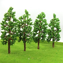 G20060 4pcs Train Layout Set Model Buiding Model Trees Model Railroad Trees Plastic Scale G O 20cm
