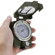 New Arrival Lensatic Compass Military Camping Hiking Metal Survival Marching Hot