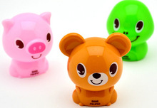 3pcs/set Mini Kawaii Pig Bear Dinosaur Shape Mechanical Pencil Sharpener Knife Papeleria Sacapuntas Office Supplies