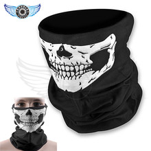 Men Women Scarves Skull Absorb Fissures Gleams Scarf Fashion Ride Outdoors Scarf Scarves Sport Mask Motorcycle Bike face mask