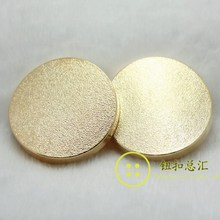 free shipping 10pcs per lot 25 mm golden color good quality beautiful dull polish metal button