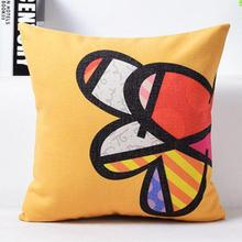 Factory Direct Supply Modern Love Art Linen Decorative Throw Pillow Cushion For Lover Christmas Wedding Gift