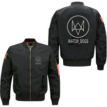 Watch Dogs spring autumn men's jacket collar code Air Force pilots jacket(China)