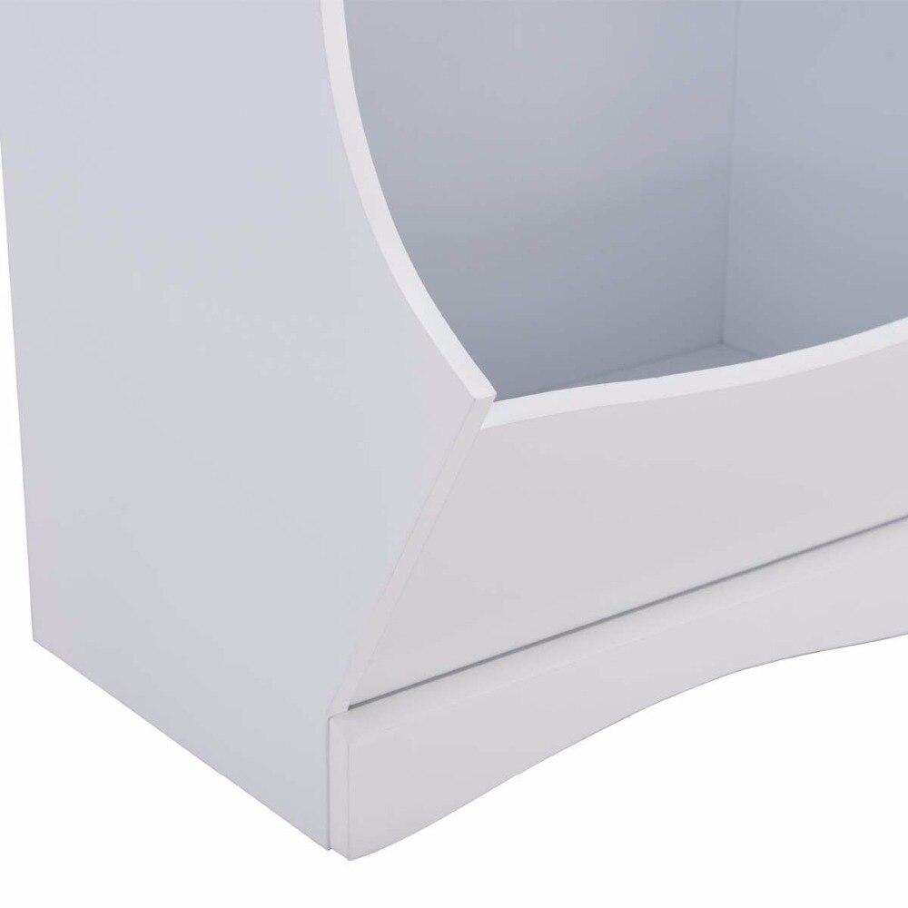 Children Storage Unit Kids Bookshelf Bookcase White Baby Toy Organizer Shelf Modern Furniture