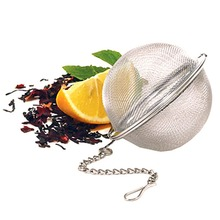2017 New Stainless Steel Home Tea Ball Infuser Strainer Leaves Herb Mesh Filter(China)