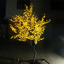 Free ship 6ft 1.8 Meter  864 Pcs LEDs  Cherry Blossom Tree light Wedding Home Garden Holiday Christmas Light waterproof Yellow
