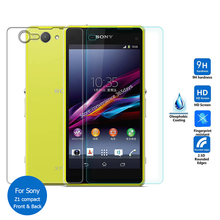Front & Back Tempered Glass Screen Protector Cover Safety Protective Film For Sony Xperia Z Z1 Z2 Z3 Z4 Z5 Compact Z 1 2 3 4 5(China)