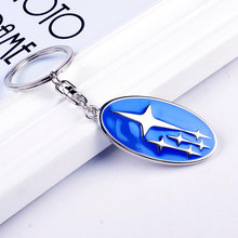 New Emblem Key chain ring High Grade Car Logo keychain Keyring Metal Zinc Alloy Llaveros Chaveiro For Subaru key holder