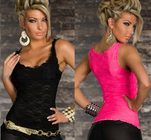 Sexy Lace Women's Tank 2015 Summer Crochet Sleeveless Women Tank Tops Fitness Women Tops Tank Vest Black Hot Pink Yellow White