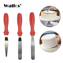 WALFOS DIY Cake Cream Spread Decorating Scraper Pastry Angled Blade Spatula Wedding Valentine Baking Cooking 3Pcs/Set(China)
