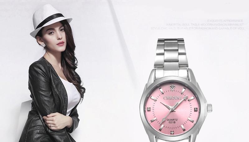 6 Fashion colors CHENXI CX021B Brand relogio Luxury Women's Casual watches waterproof watch women fashion Dress Rhinestone watch 10