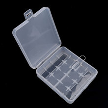 New Arrival 4 x 18650 Battery Storage Box Case Batteries Store Boxes Holder Free Shipping Transparent Container