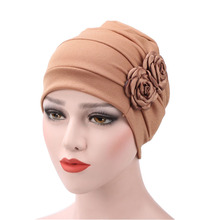 6 Colors Women Side Flowers Headwear Headwrap African Head wrap Twist Hair Band India Turban Bandana Bandage Hijab Accessories(China)