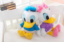 1pcs 60cm Cute Stuffed Dolls Donald Duck& Daisy Duck Soft Plush Toys Kids toys Low Price& High Quality Children Christmas Gifts