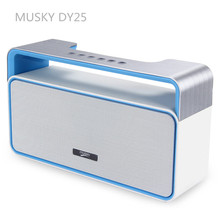 MUSKY DY25 HIFI V3 Stereo EDR Mini Wireless Bluetooth Speaker Portable Music Sound Box with MP3 FM Radio AUX Hands free