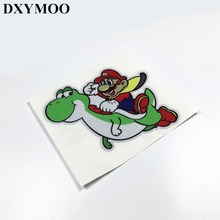 Car Sticker Reflective 3M Motorcycle Helmet Decal Vinyl Motocross for Super Mario Dinosaur(China)