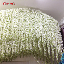 1.4M Artificial Wisteria Flower Rattan Flower Vines Garlands For Wedding Party Centerpieces Decorations Home Ornament