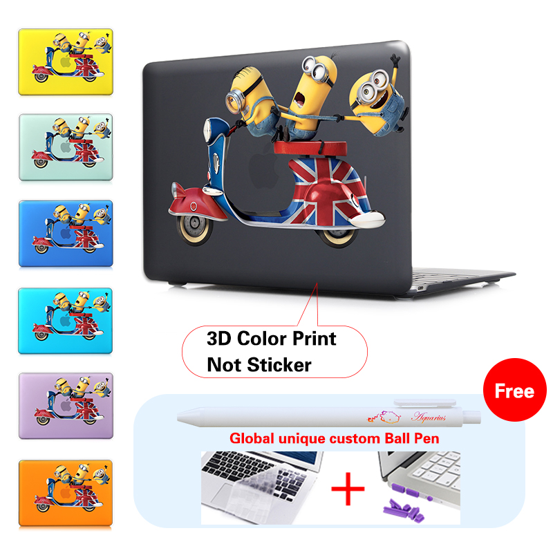 Print Cute Minions Laptop Hard Cover Sleeve For Macbook Pro 13 15 Retina 13 15 Case Mac Book Air 11 13 New 12 Case Protector<br><br>Aliexpress