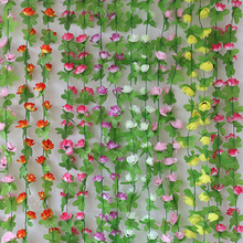 Artificial Flower String Flower Vine/rattan For Wedding Party Decorations Home Decoration Accessories Artificial Plants JK0077(China)