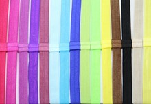 55Colors FOE Free shipping 30pcs Shimmery Elastic Headband for baby and children adults Hair Accessory