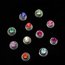 10 pcs Rhinestone Coil Swirl Spiral Twist Hair Spin Pins Women Brides Tiara Simple Elegant Hair Jewelry  Accessories S-19