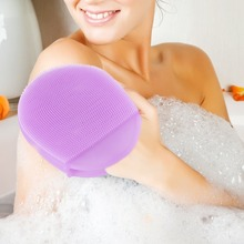 Silicone Exfoliating Brush Scrubber Bath Scrub Glove Spa Anti Cellulite Back Bath Glove Exfoliation Shower Brush Body Massager 3