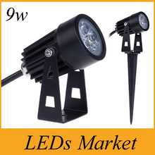 New Led Lawn Light 3*3w 9w Led Landscape Lawn Lamp For Garden Park Decoration Lighting waterproof IP65 AC85-265v 12v 7 colors(China)