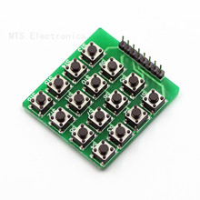 Free shipping 10pc 4x4 Keypad MCU Accessory Board Matrix Keyboard 16 Key Buttons For Arduino