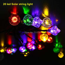 5set led solar string lights outdoor Butterflies Solar string light Decoration 20 led garden decoration string lamp lighting(China)