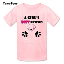 A Girls Best Friend Boys Girls T Shirt Pure Cotton Short Sleeve Crew Neck Tshirt children's Garment 2017 New T-shirt For Kids