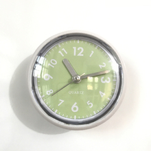 Green Modern Suction Cup Bathroom Wall Clocks Silicon Rubber Waterproof Clocks Kitchen Brack Glass Mirror Clocks Simple(China)