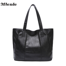 MTENLE Women Bag Ladies PU Leather Handbags Simple Design Tote Bag Big Shoulder Bags For Woman Large Capacity Bolso Mujer Fi(China)