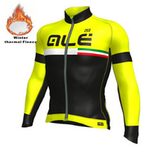 Team ALE Cycling Jersey Long Sleeve Winter Thermal Fleece Bicycle Ale Cycling Jersey /Super Warm Winter Moutain Bike Clothing